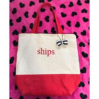 シップス(SHIPS)のSHIPSシップス バイカラー 縦トートバッグ(トートバッグ)
