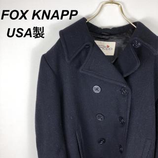 シップス(SHIPS)の80s USA製 Fox Knapp SHIPS 肉厚ウール Pコート(ピーコート)