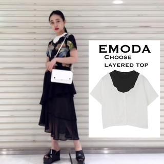 エモダ(EMODA)のEMODA  Chooseレイヤード トップス♡ムルーア ENVYM GYDA (カットソー(半袖/袖なし))