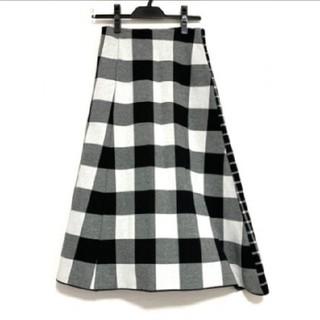 ルシェルブルー(LE CIEL BLEU)の【LE  CIEL BLUE】美品チェックロングスカート36(ロングスカート)