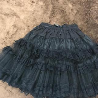 アリスアンドザパイレーツ(ALICE and the PIRATES)のボリューム◎二重パニエ フリルスカート フリーサイズ(ミニスカート)