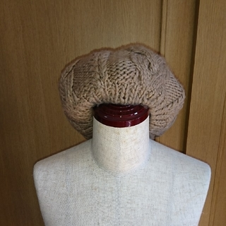 アングリッド(Ungrid)の【Ungrid】ベレー帽 ベージュ(ハンチング/ベレー帽)