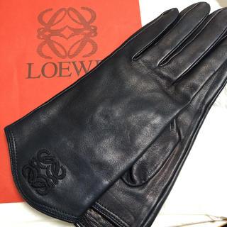 ロエベ(LOEWE)のLOEWE  レザー手袋  レディース size7(手袋)