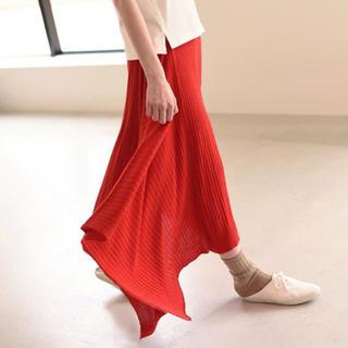 コモリ(COMOLI)のunfil royalbaby suri alpaca ribbed skirt(ロングスカート)