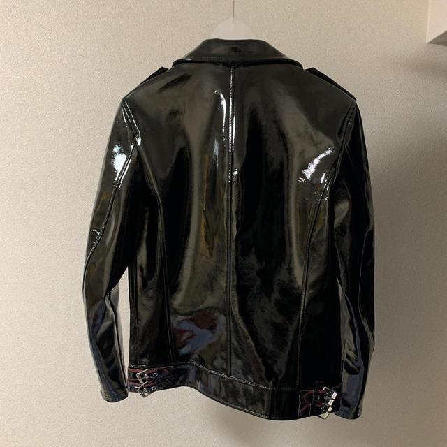 ZARA(ザラ)の【新年セール】ZARA エナメルライダースジャケット メンズのジャケット/アウター(ライダースジャケット)の商品写真