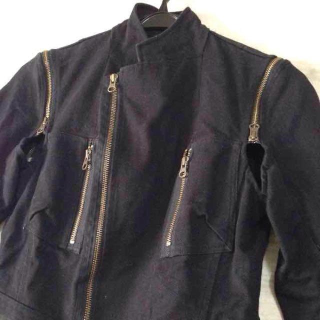 H.P.FRANCE(アッシュペーフランス)のジャックヘンリー ライダース レディースのジャケット/アウター(ライダースジャケット)の商品写真