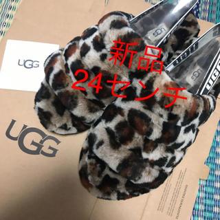 UGG - 新品 レア UGG アグ ムートンサンダル レオパード 24センチ ハワイ