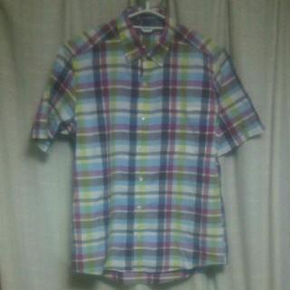 グリーンレーベルリラクシング(green label relaxing)のGREEN LABEL チェックシャツ Sサイズ セレクト 爽やか かわいい 服(シャツ)