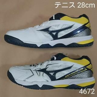 ミズノ(MIZUNO)のテニスS 28cm ミズノ ウェーブブレイク ワイド AC(シューズ)