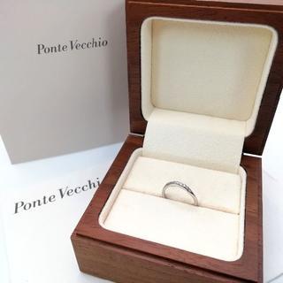 PonteVecchio - 希少 極美品 ポンテヴェキオ プラチナ ダイヤ リング 8号 CQ5