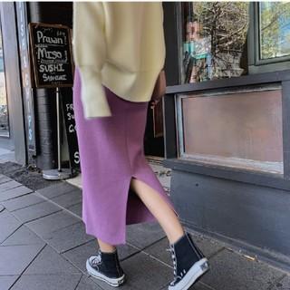 dholic - 【4color】スリット ニット スカート