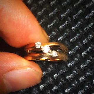 アヴァランチ(AVALANCHE)の10k pink yellowgold diamondリング(リング(指輪))