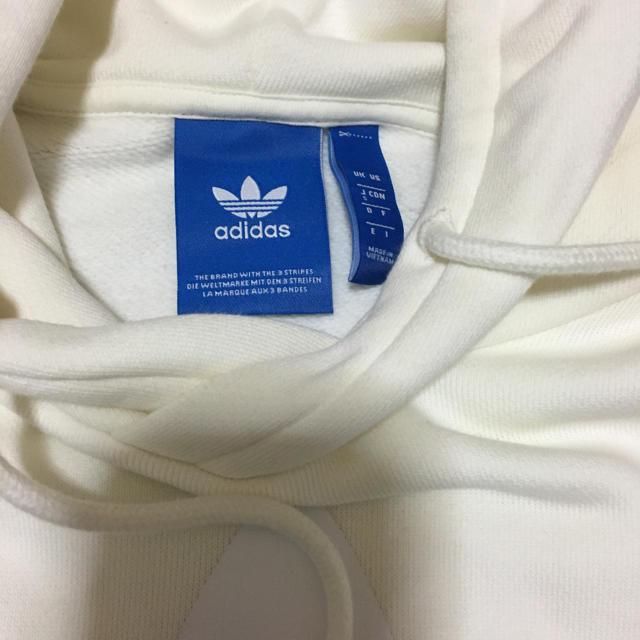 adidas(アディダス)のアディダスオリジナルス ロゴパーカー白 メンズのトップス(パーカー)の商品写真