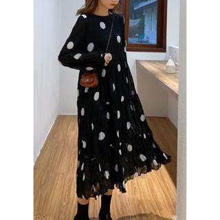 大きめドット水玉ワンピースドレス(ワンピース)