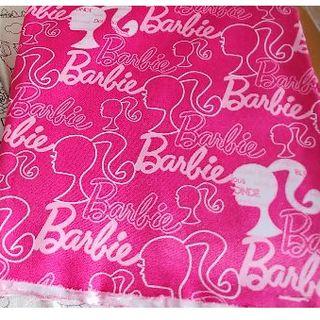 バービー(Barbie)のバービー柄 はぎれ(生地/糸)
