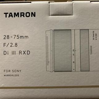 タムロン(TAMRON)の28-75mm F/2.8 Di III RXD(ミラーレス一眼)