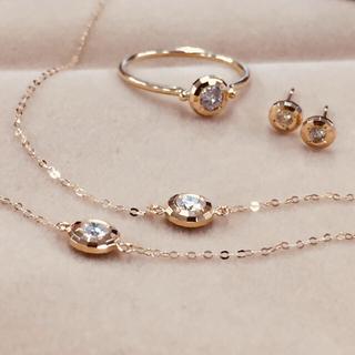 K18 ダイヤモンド ミラー リング #17(リング(指輪))