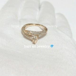 カルティエ(Cartier)の最高級!!czダイヤモンド❤️釘リング(リング(指輪))