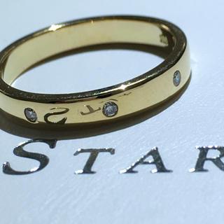 STAR JEWELRY - スタージュエリー starjewelry 18金 イエローゴールド ダイヤリング