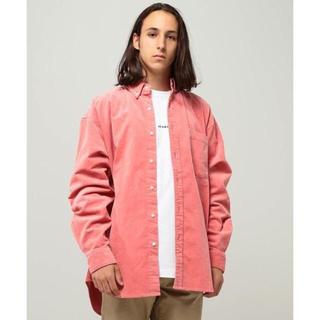 BEAMS - BEAMS  コーデュロイ イージー ミニボタンダウンシャツ ピンク