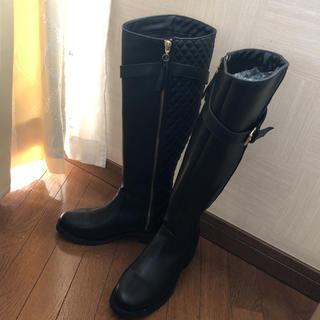 ザラ(ZARA)のZARA ロングブーツ ブーツ キルティング 37 ザラ(ブーツ)
