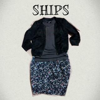 シップス(SHIPS)のSHIPSサテンノーカラーブルゾン(ノーカラージャケット)