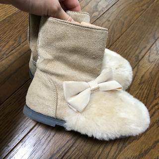 プティマイン(petit main)のアプレレクール リボンファーブーツ  プティマイン(ブーツ)