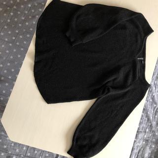 シマムラ(しまむら)のHKworks Londonブラックラメ入りバルーンニットL(ニット/セーター)