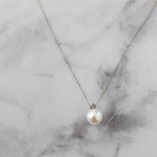 MIKIMOTO - 美品 K18 WG パール ダイヤモンドネックレス