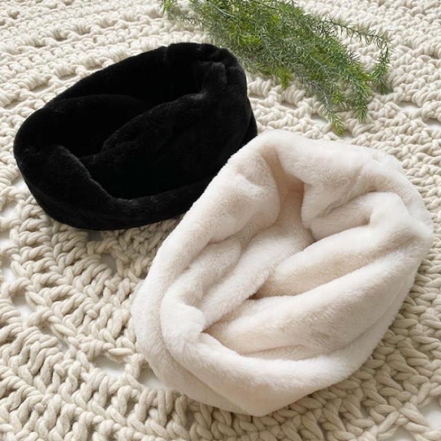 しまむら(シマムラ)のしまむら MUMUコラボ ハッピーバッグ スヌード ホワイトのみ レディースのファッション小物(マフラー/ショール)の商品写真