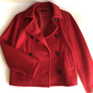 ロッソ(ROSSO)のROSSO美品ウールPコート赤☺︎アーバンリサーチロッソ(ピーコート)