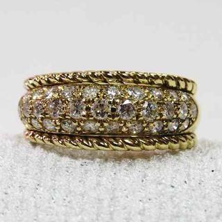 キラキラパヴェセッティングダイヤ1,05CT指輪☆素敵なK18YG製リング☆★(リング(指輪))