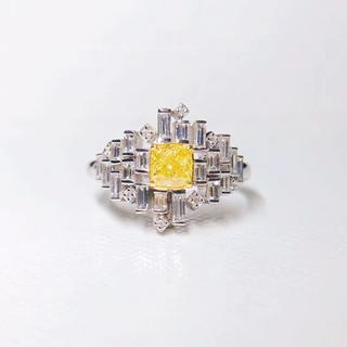 Gia0.51ct♡Fancy.lntense.Yellow指輪(リング(指輪))