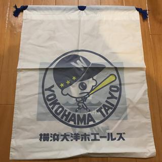 横浜大洋ホエールズ ビニール巾着バッグ 新品未使用