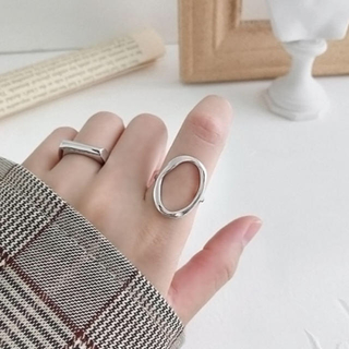 トゥデイフル(TODAYFUL)のシルバー925 オーバルワイドリング(リング(指輪))