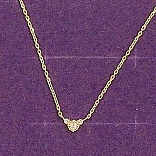 アガット(agete)のアガット K10 ダイヤモンド ネックレス(ネックレス)