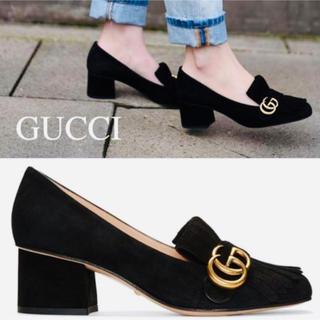 Gucci - GUCCI マーモントスェードパンプス サイズ38