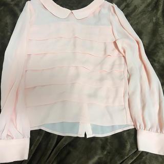 アイズビットガーディアン(ISBIT GUARDIAN)のISBIT ピンク ブラウス フリーサイズ (シャツ/ブラウス(半袖/袖なし))