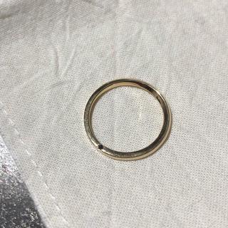 イーエム(e.m.)のe.m. noir K18リング ブラックダイヤ入り(リング(指輪))