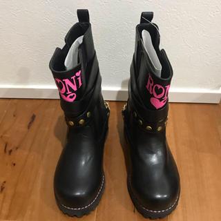 ロニィ(RONI)の新品未使用RONI ブーツ 黒 チェーン付き18cm エンジニア ロニィ(ブーツ)