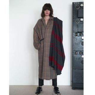 サンシー(SUNSEA)のSUNSEA 19AW Caramel Check Coat  (ステンカラーコート)