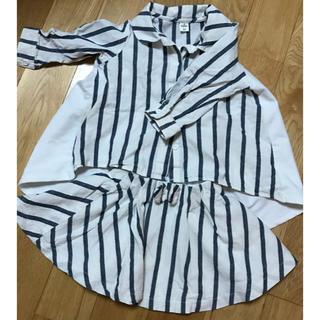 エフオーキッズ(F.O.KIDS)のアプレレクール サイズ80 女の子 シャツ スカート セット(シャツ/カットソー)