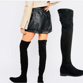 asos - ASOS KEEP SAKE Flat Over The Knee Boots