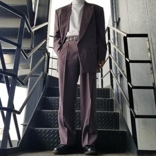 ジョンローレンスサリバン(JOHN LAWRENCE SULLIVAN)のヴィンテージ セットアップ ダブルスーツ パープル グレー(セットアップ)