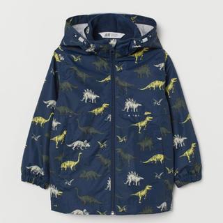 H&M ウォーターリペレントジャケット 115 恐竜柄 ダウン ジャンパー 上着