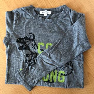 サンカンシオン(3can4on)の120 3can4on 長袖 シャツ グレー 恐竜 (Tシャツ/カットソー)