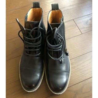 サヤ(SAYA)のSAYA革靴 日本製 24cmブラック(ローファー/革靴)