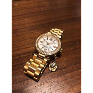 CLATHAS - クレイサス アンティークゴールド加工 腕時計 シェル文字盤 ジルコニア