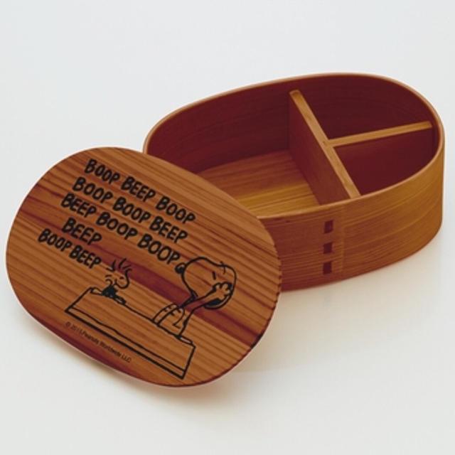 SNOOPY(スヌーピー)のPEANUTS スヌーピー  曲げわっぱ 弁当箱 1段 新品 インテリア/住まい/日用品のキッチン/食器(弁当用品)の商品写真
