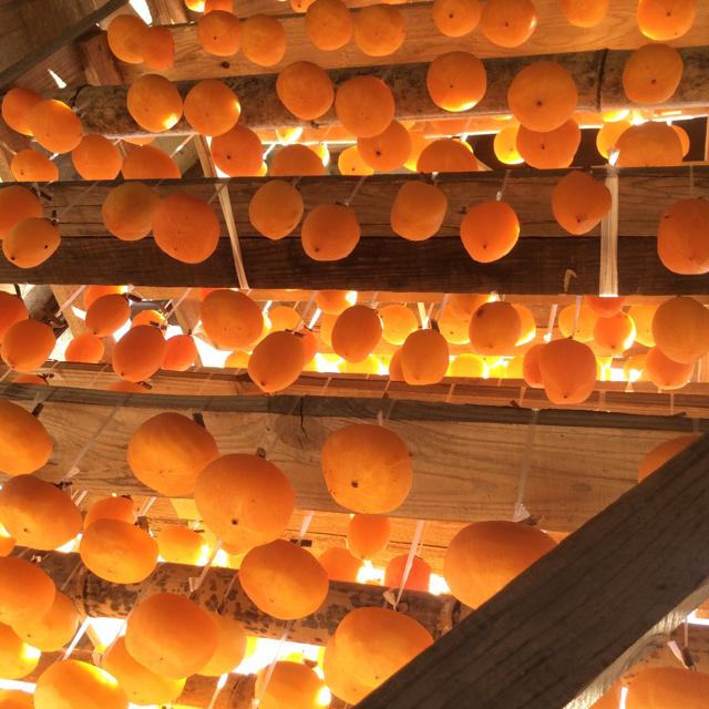 富山干し柿 吊るし柿 ひらたねなし柿 12個 オマケ付き 食品/飲料/酒の食品(フルーツ)の商品写真